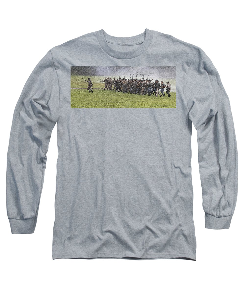 Civil War Long Sleeve T-Shirt featuring the photograph The Conflict by Robert Pearson