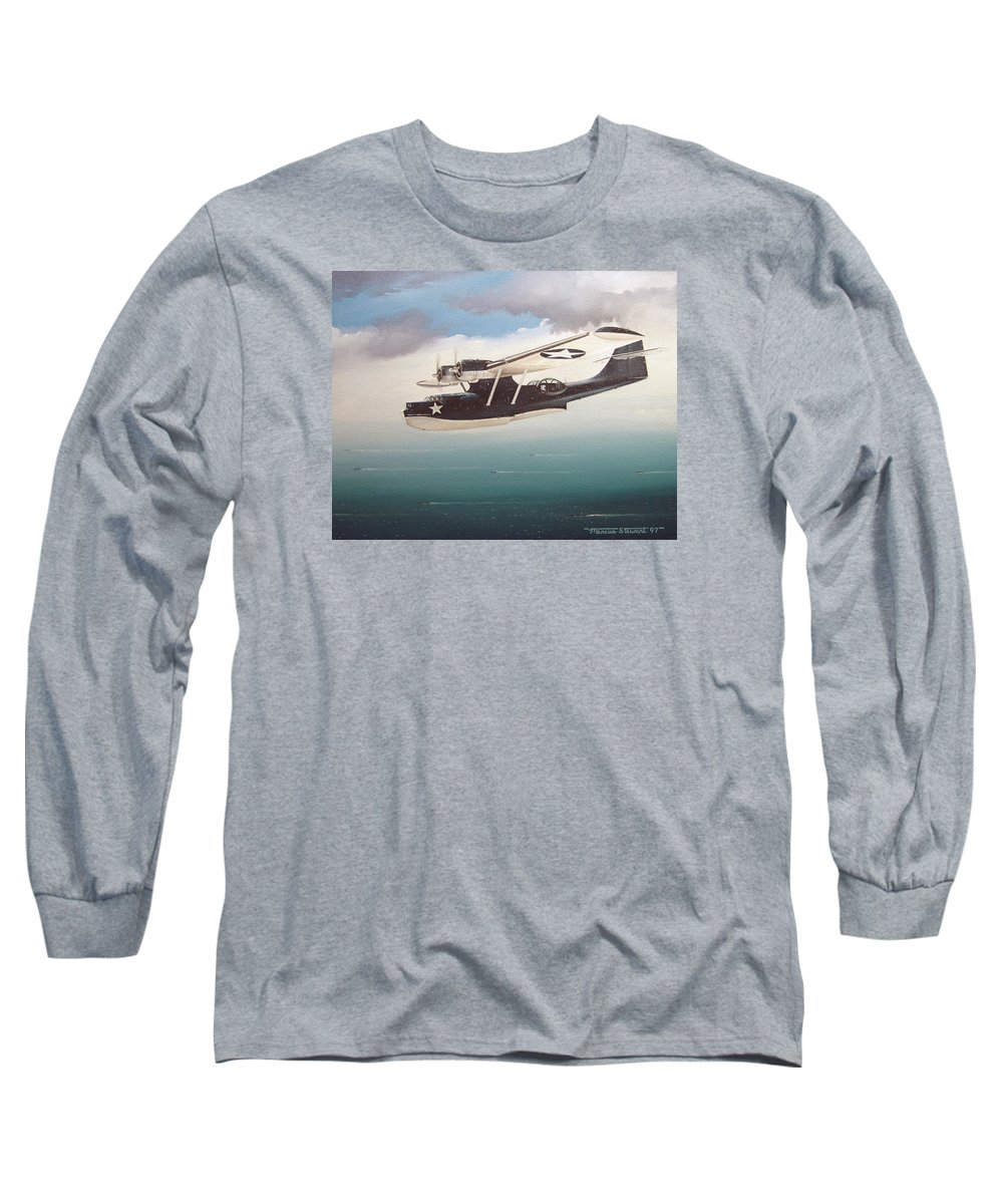 Painting Long Sleeve T-Shirt featuring the painting The Good Shepherd by Marc Stewart