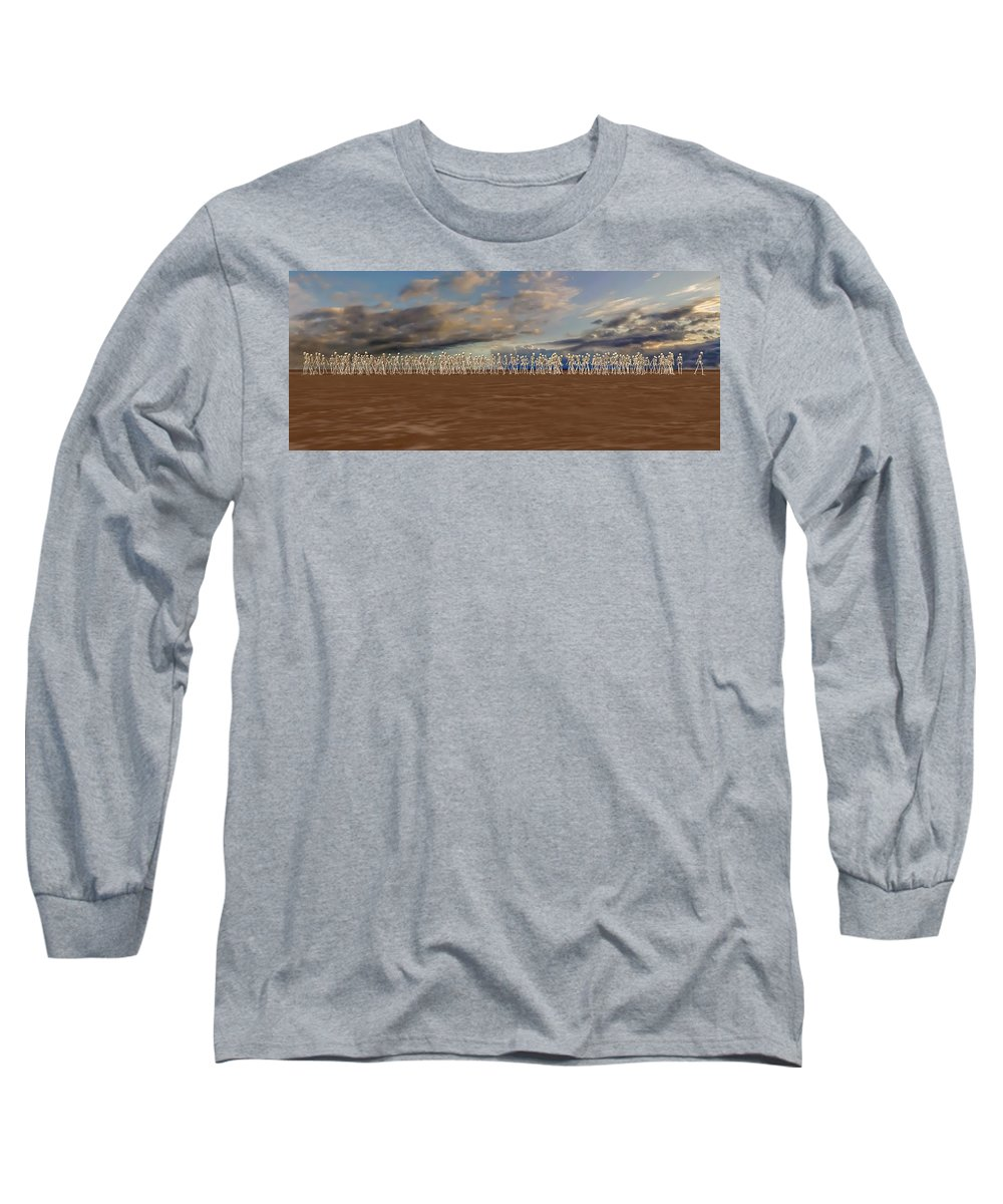 Skeleton Long Sleeve T-Shirt featuring the digital art The Illusionist 2 by Betsy Knapp
