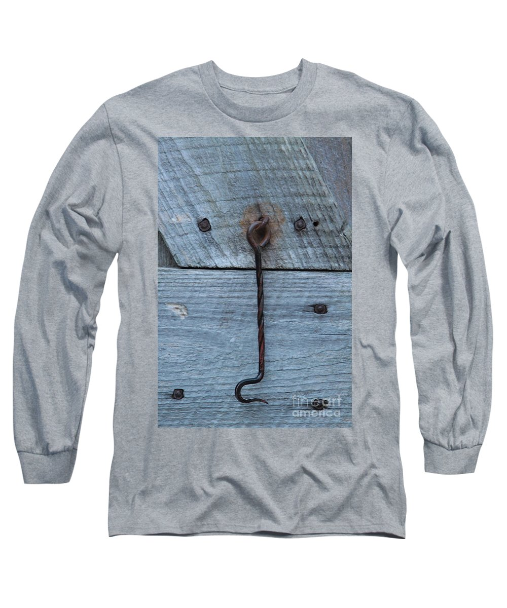 Swing Lock Long Sleeve T-Shirt featuring the photograph The Latch by Robert Pearson