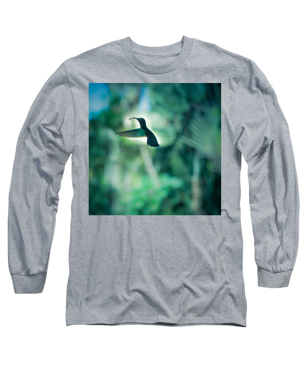 Square Format Long Sleeve T-Shirt featuring the photograph The Levitation by Radek Spanninger