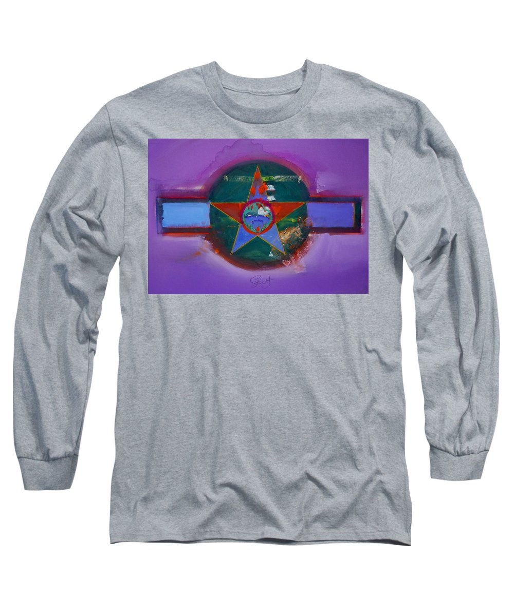 Star Long Sleeve T-Shirt featuring the painting The Lighthouse Keeper by Charles Stuart