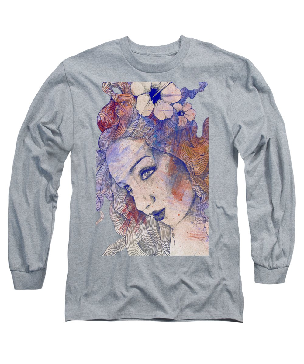 Linear Paintings Long Sleeve T-Shirts