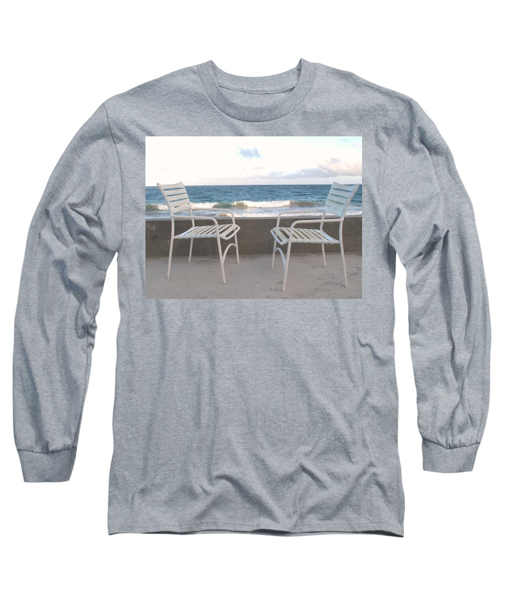 Seascape Long Sleeve T-Shirt featuring the photograph The Meeting by Ian MacDonald