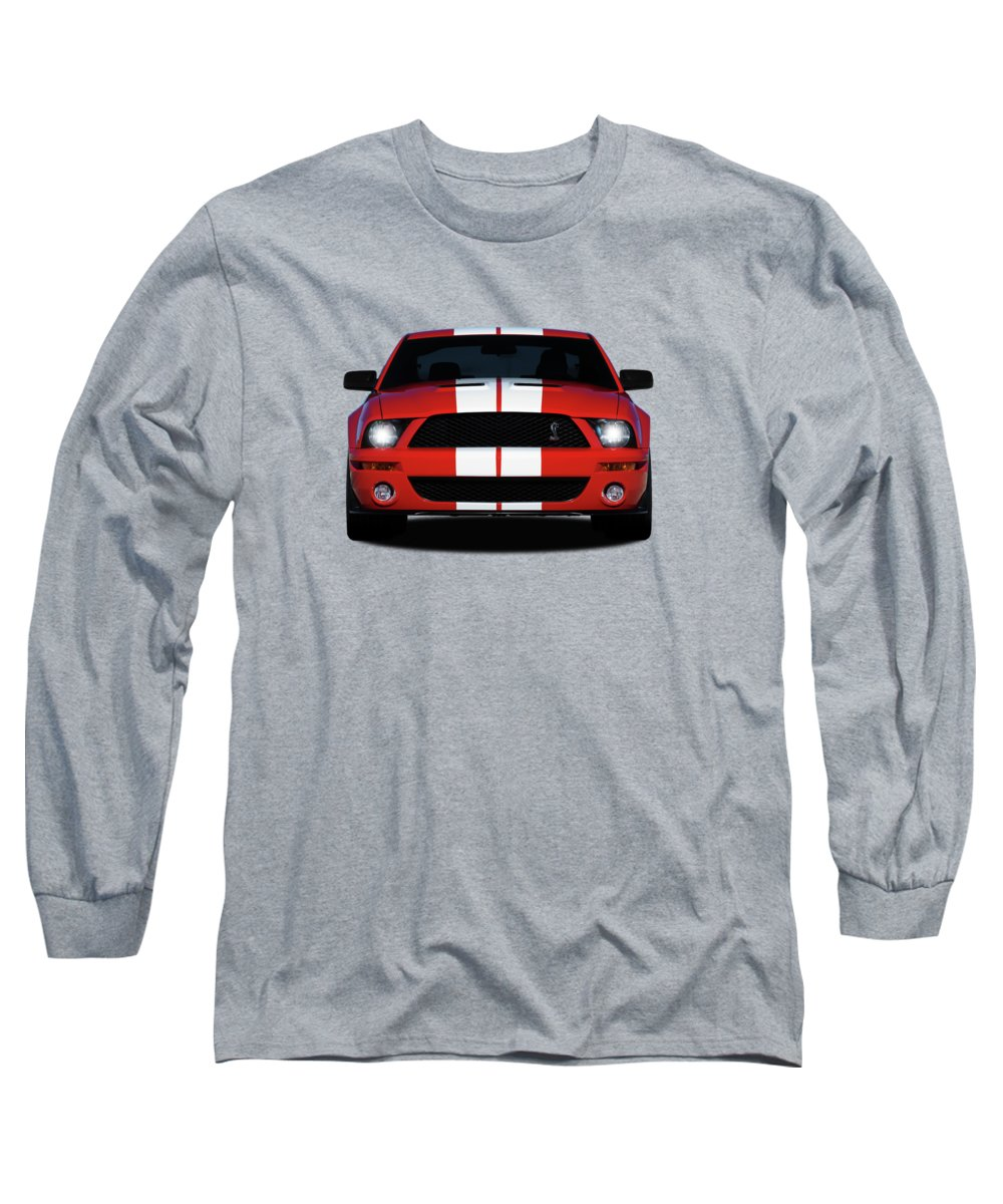 Ford mustang shelby gt500 long sleeve t shirt featuring the photograph the mustang shelby gt500