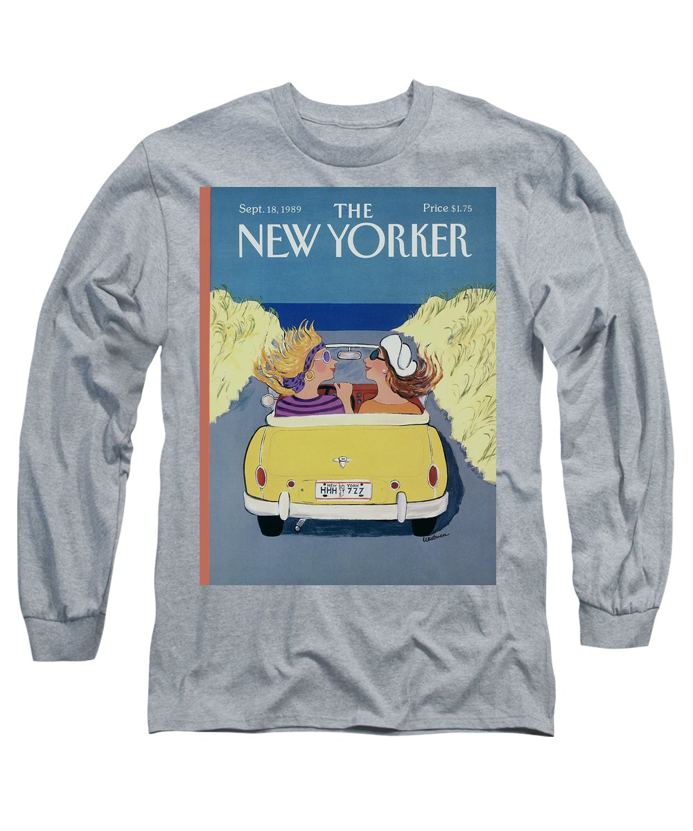 Autos Long Sleeve T-Shirt featuring the photograph The New Yorker Cover - September 18th, 1989 by Barbara Westman