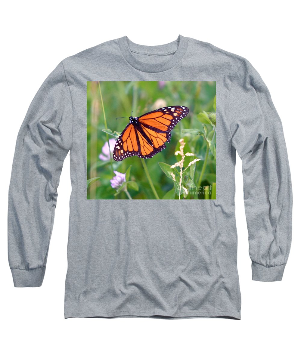 Butterfly Long Sleeve T-Shirt featuring the photograph The Orange Butterfly by Robert Pearson