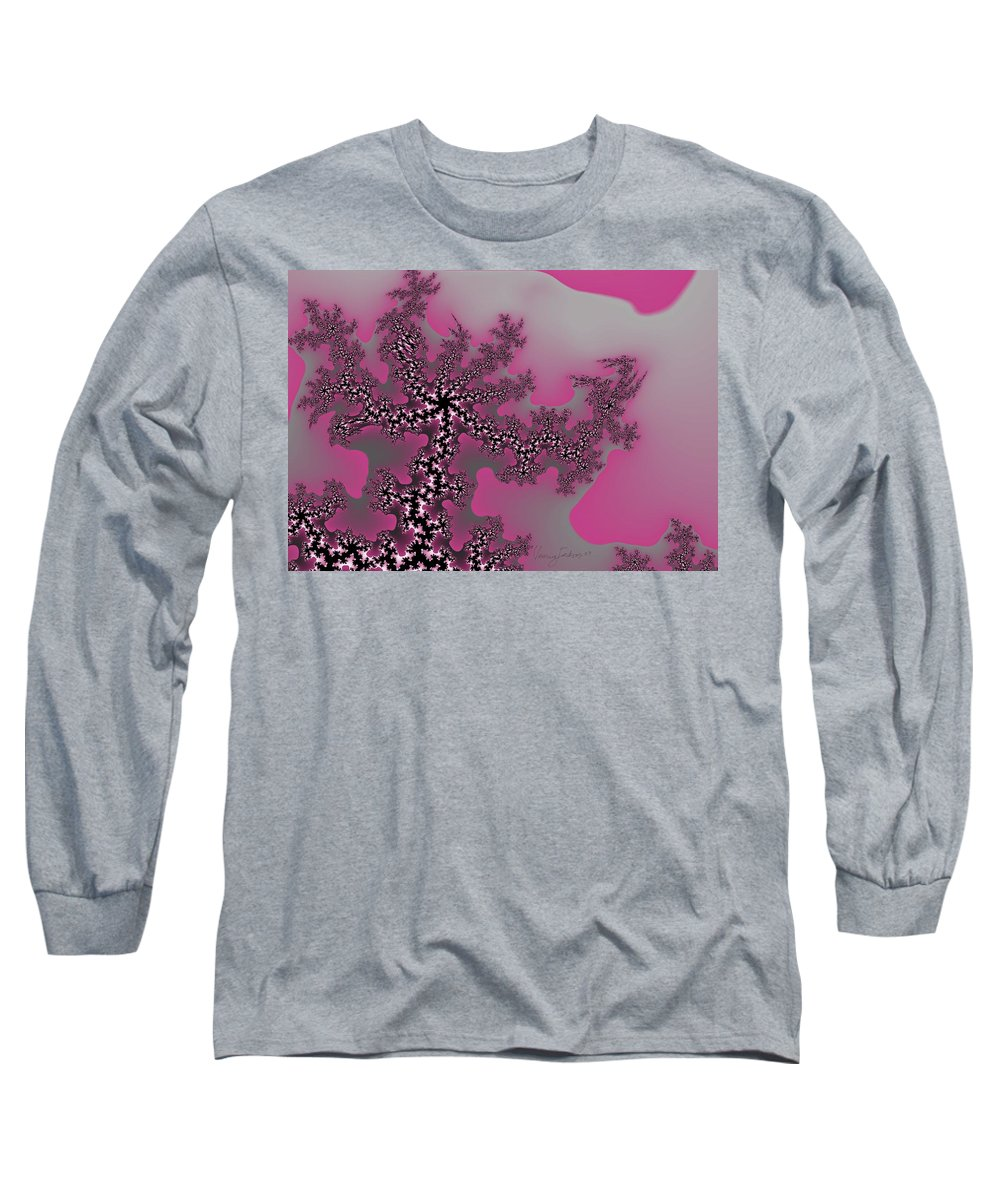 Fractals Tree Nature Oriental Art Long Sleeve T-Shirt featuring the digital art The Oriental Tree by Veronica Jackson