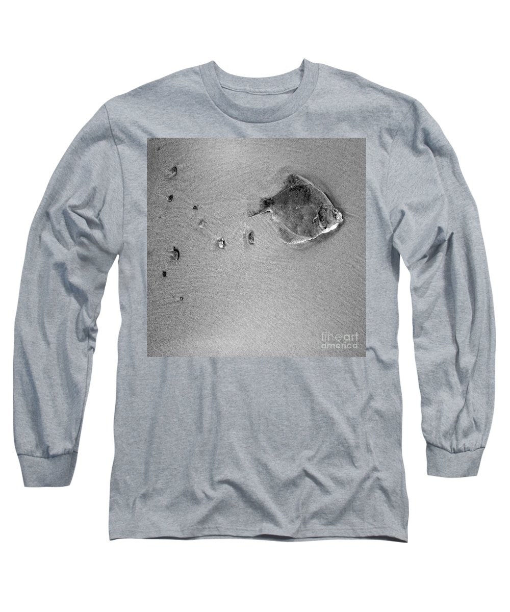 Fish Long Sleeve T-Shirt featuring the photograph The Relief by Angel Ciesniarska