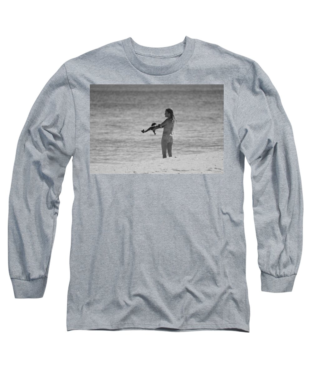 Black And White Long Sleeve T-Shirt featuring the photograph The Shirt by Rob Hans