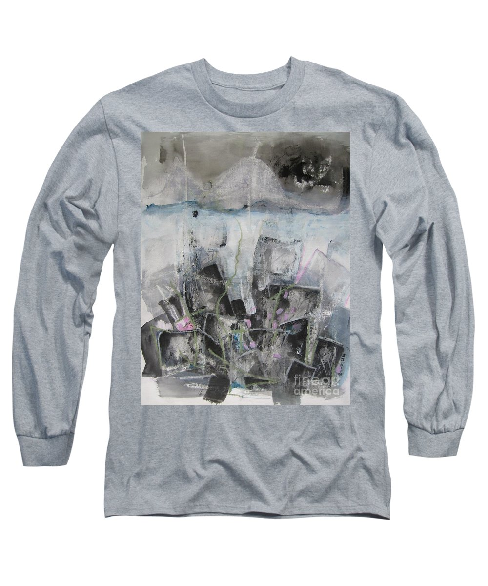 Cemetery Long Sleeve T-Shirt featuring the painting Three Arms by Seon-Jeong Kim
