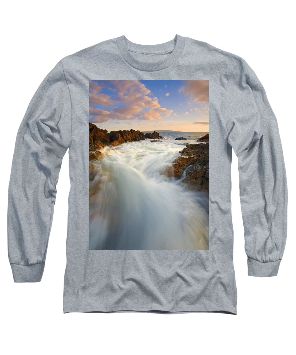 Surge Long Sleeve T-Shirt featuring the photograph Tidal Surge by Mike Dawson
