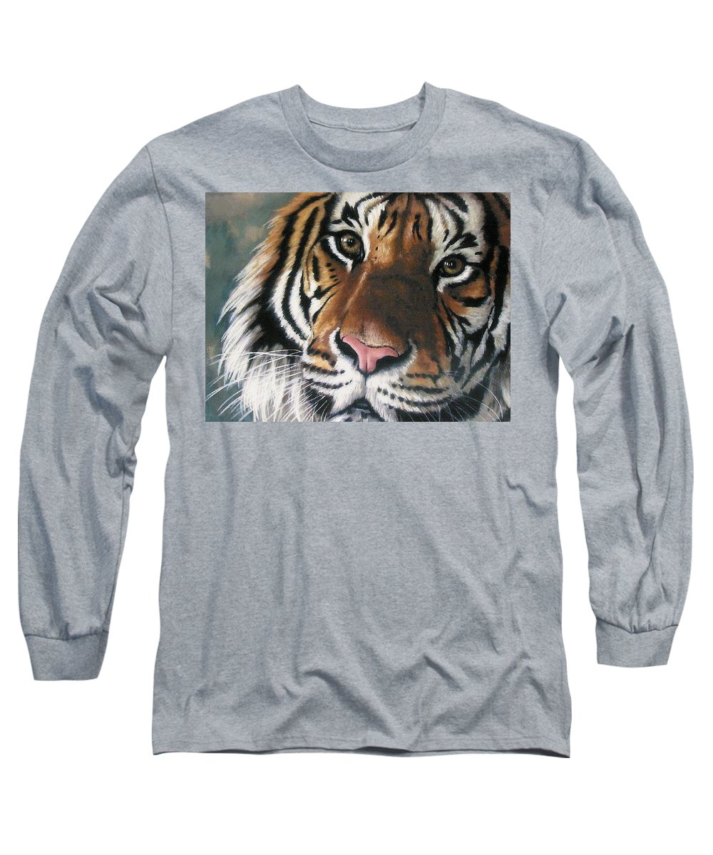Tiger Long Sleeve T-Shirt featuring the pastel Tigger by Barbara Keith