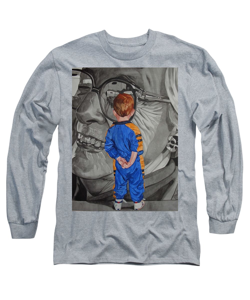 Children Long Sleeve T-Shirt featuring the painting Timeless Contemplation by Valerie Patterson