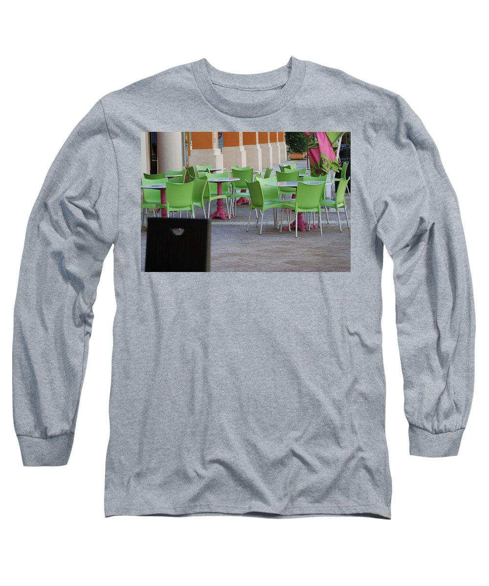 Chairs Long Sleeve T-Shirt featuring the photograph Token Chair by Rob Hans