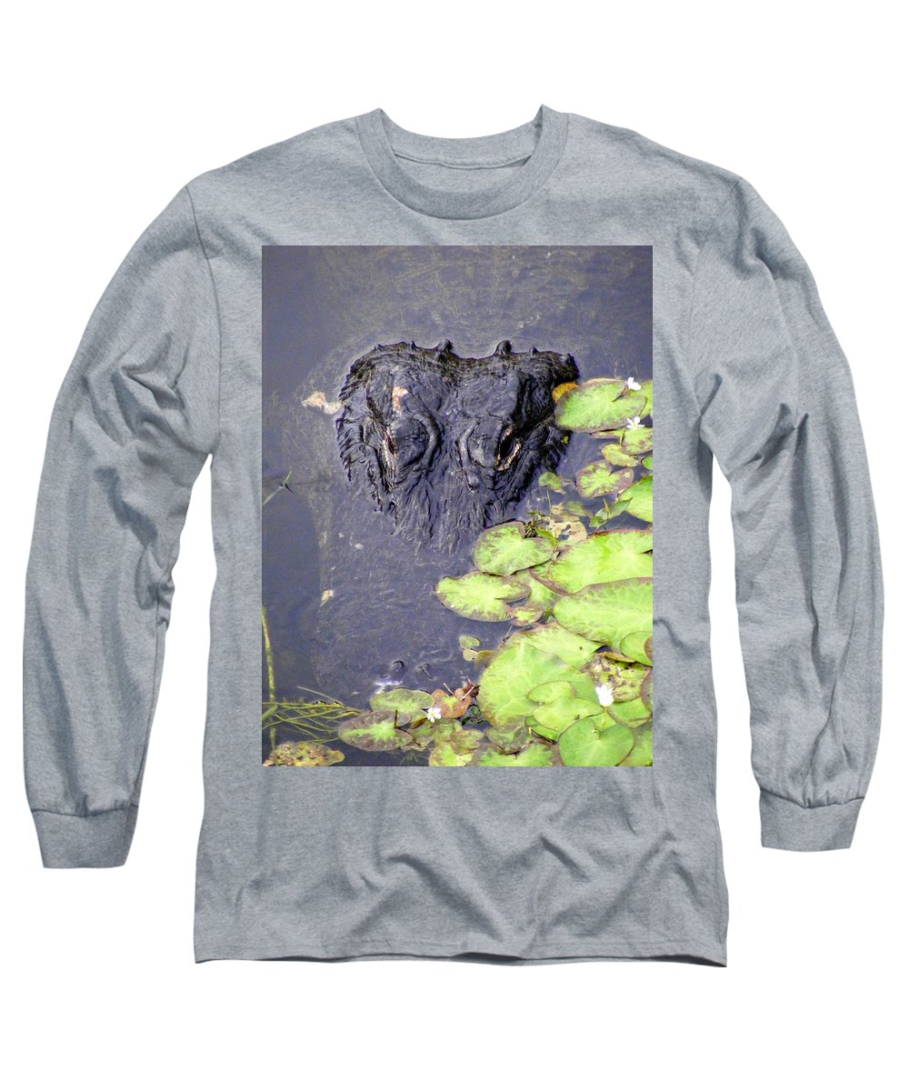 Swamp Long Sleeve T-Shirt featuring the photograph Too Close For Comfort by Ed Smith