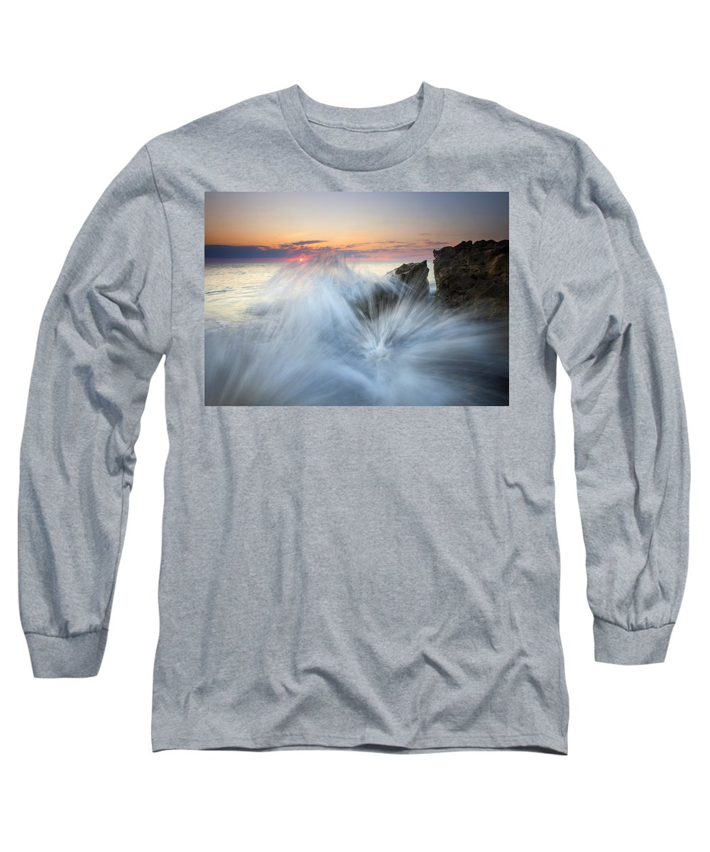 Sunrise Long Sleeve T-Shirt featuring the photograph Too Close For Comfort by Mike Dawson