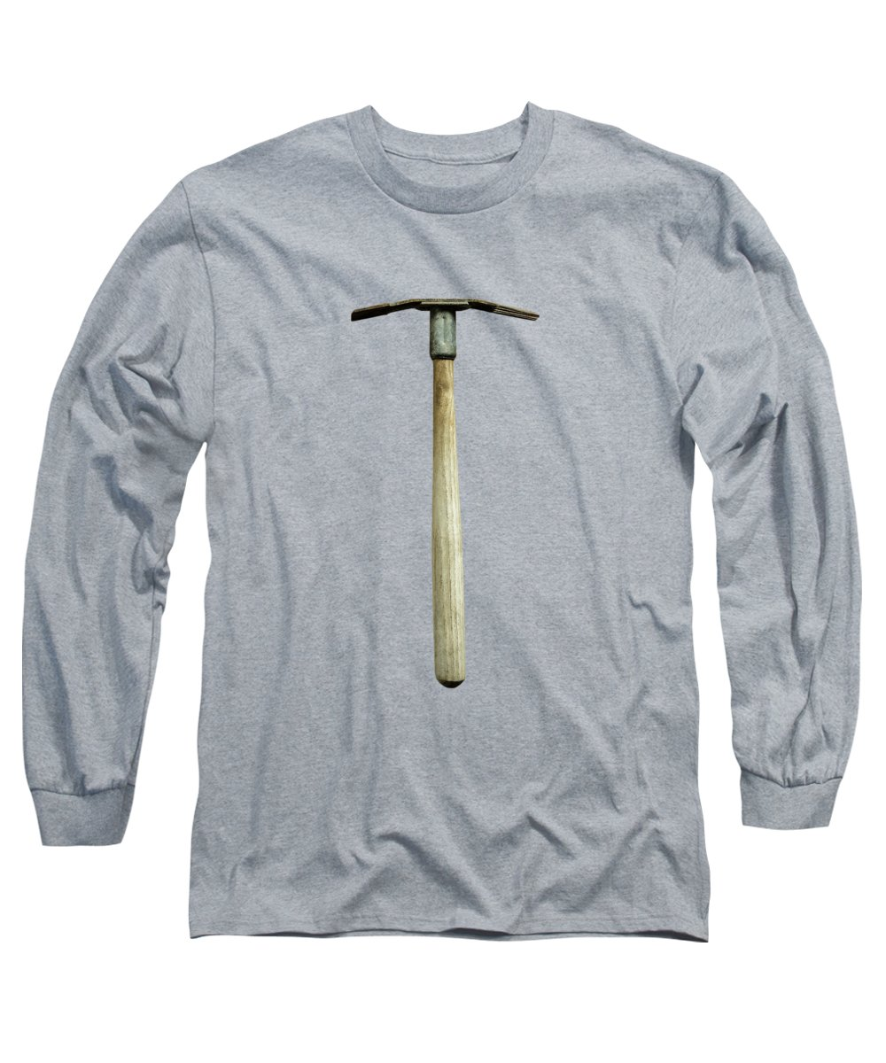 Art Long Sleeve T-Shirt featuring the photograph Tools On Wood 16 On Bw by YoPedro