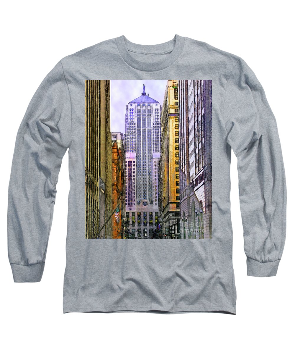 Trading Places Long Sleeve T-Shirt featuring the digital art Trading Places by John Beck