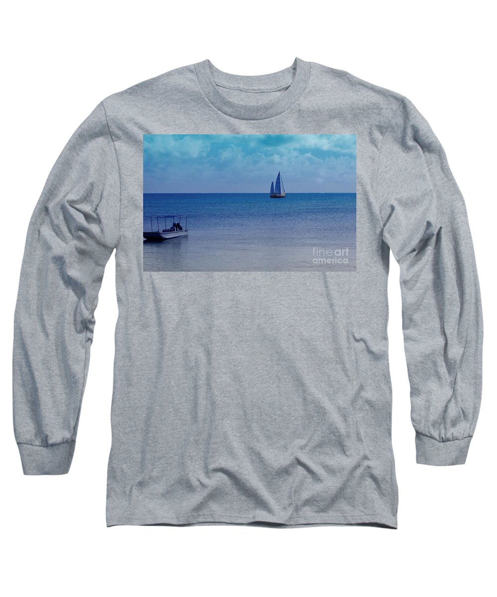 Water Long Sleeve T-Shirt featuring the photograph Tranquil Blue by Debbi Granruth