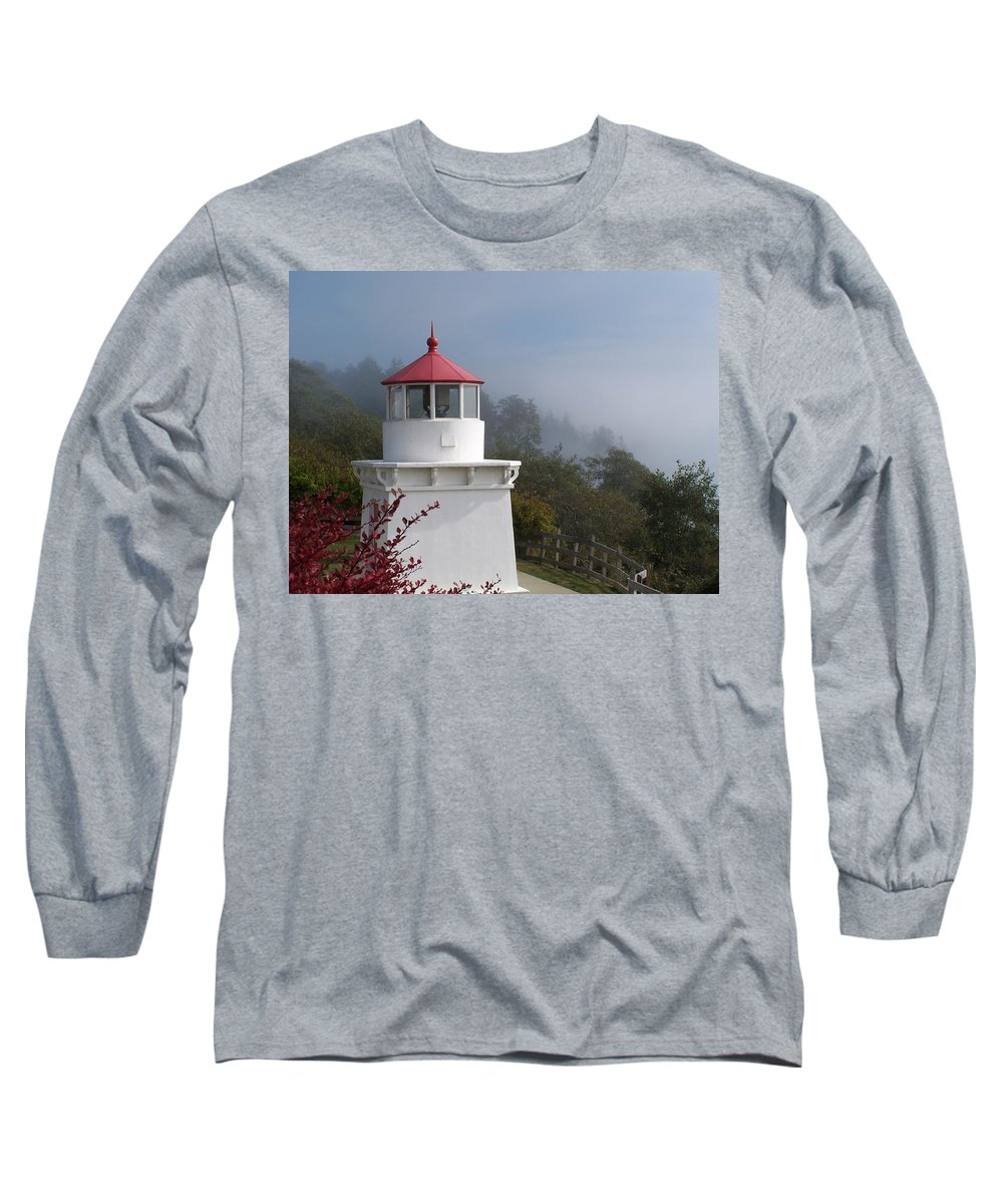 Lighthouse Long Sleeve T-Shirt featuring the photograph Trinidad Head Lighthouse by Gale Cochran-Smith