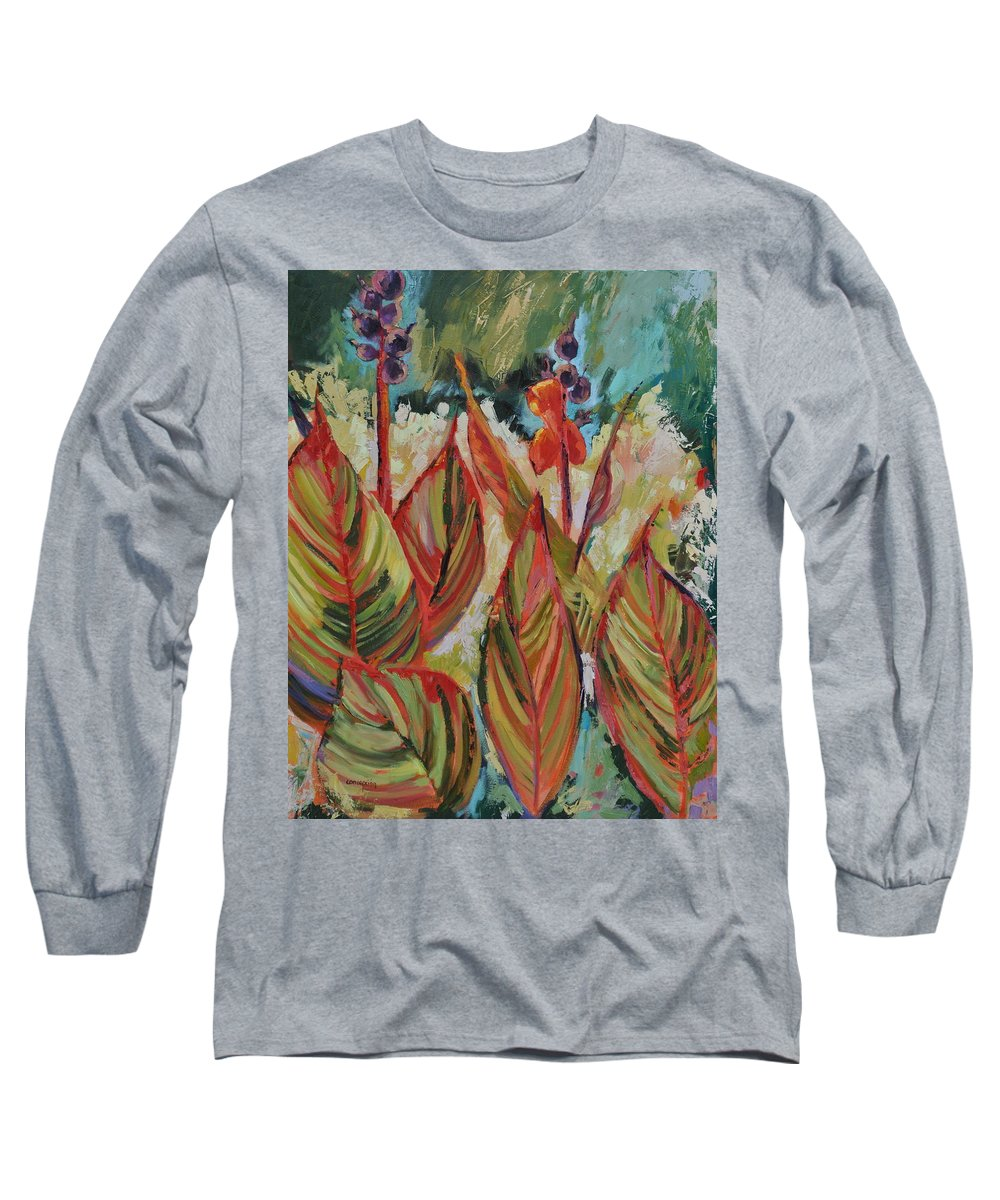 Tropicana Long Sleeve T-Shirt featuring the painting Tropicana by Ginger Concepcion