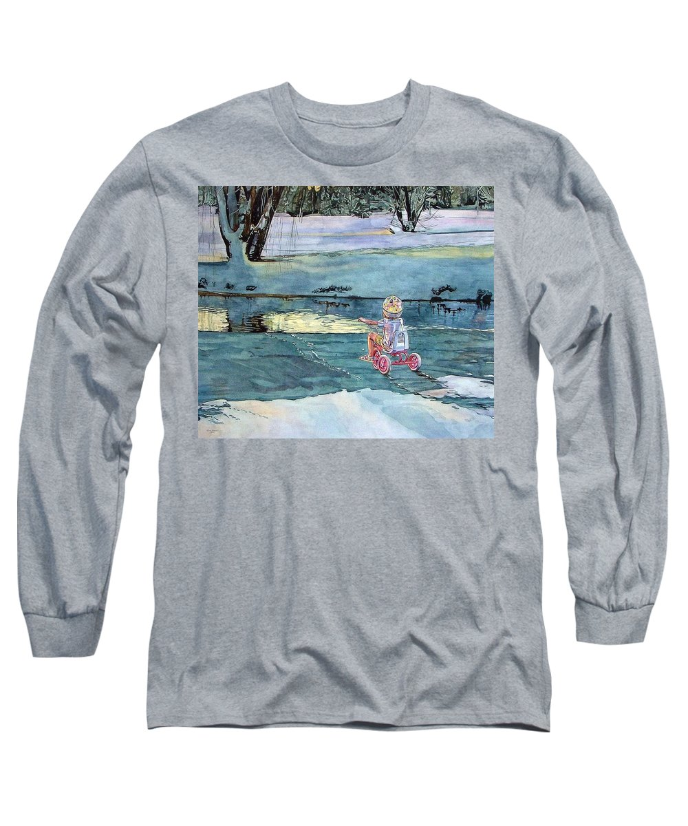 Children Long Sleeve T-Shirt featuring the painting Twilight by Valerie Patterson