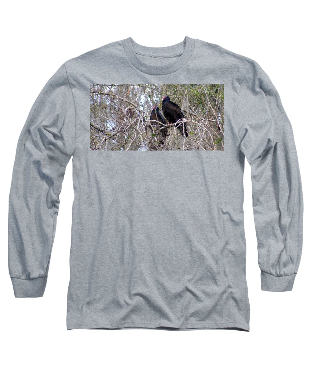 Birds Long Sleeve T-Shirt featuring the photograph Two Friends by Ed Smith