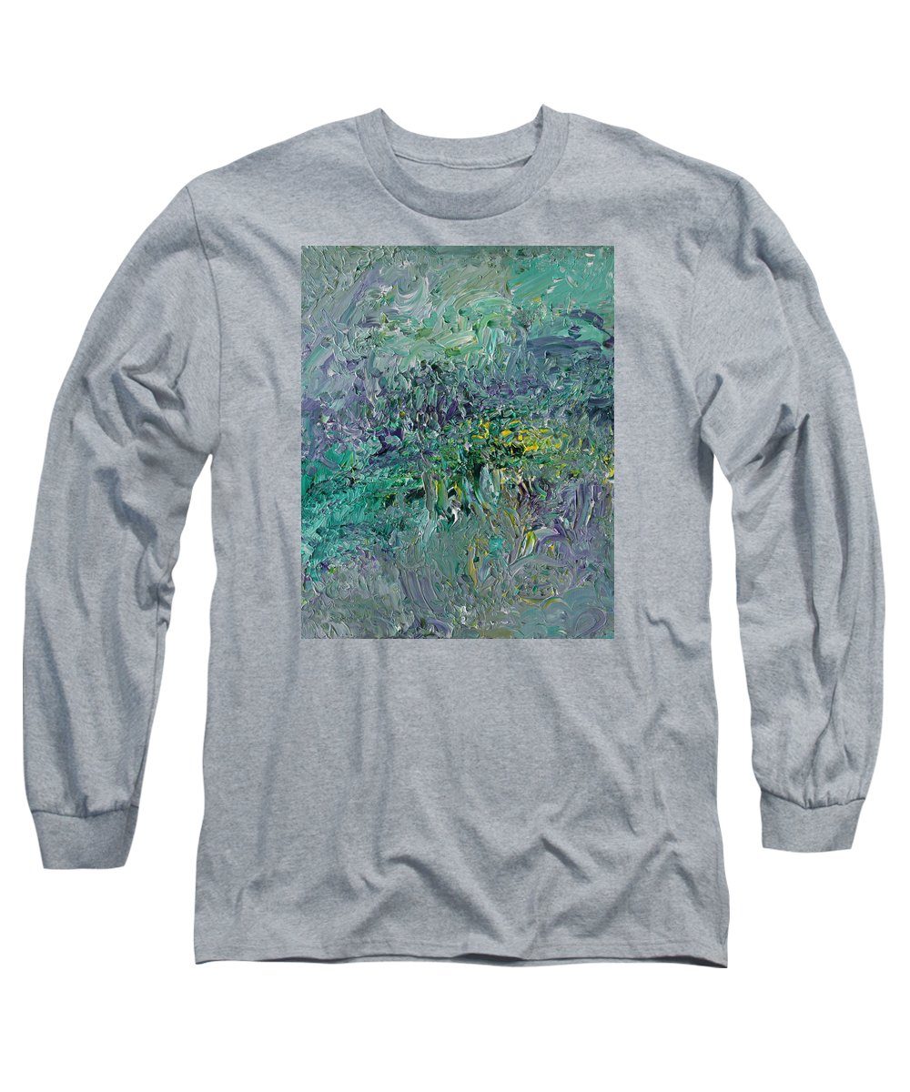 Fusionart Long Sleeve T-Shirt featuring the painting Blind Giverny by Ralph White