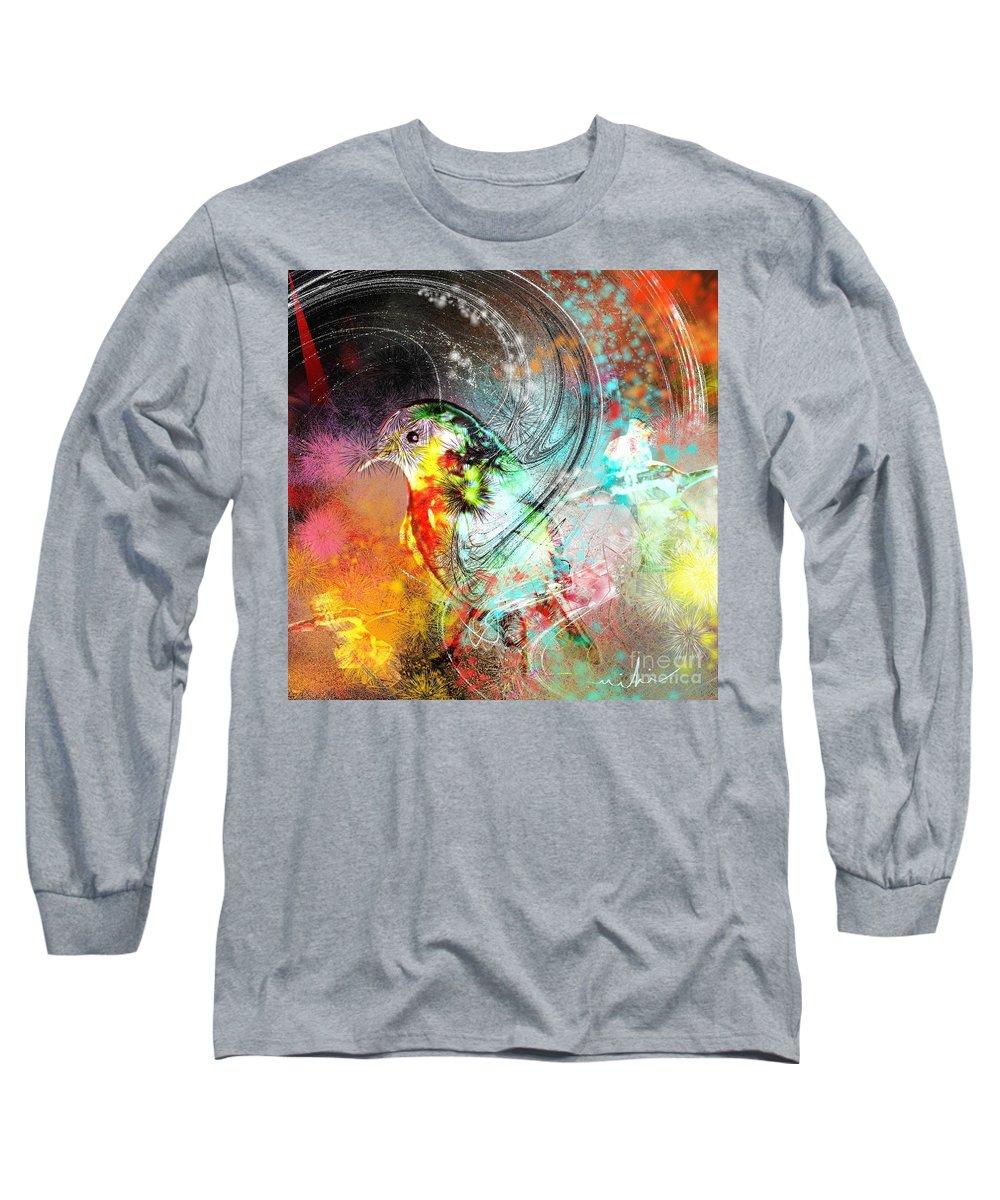 Bird Long Sleeve T-Shirt featuring the painting Vagabond by Miki De Goodaboom