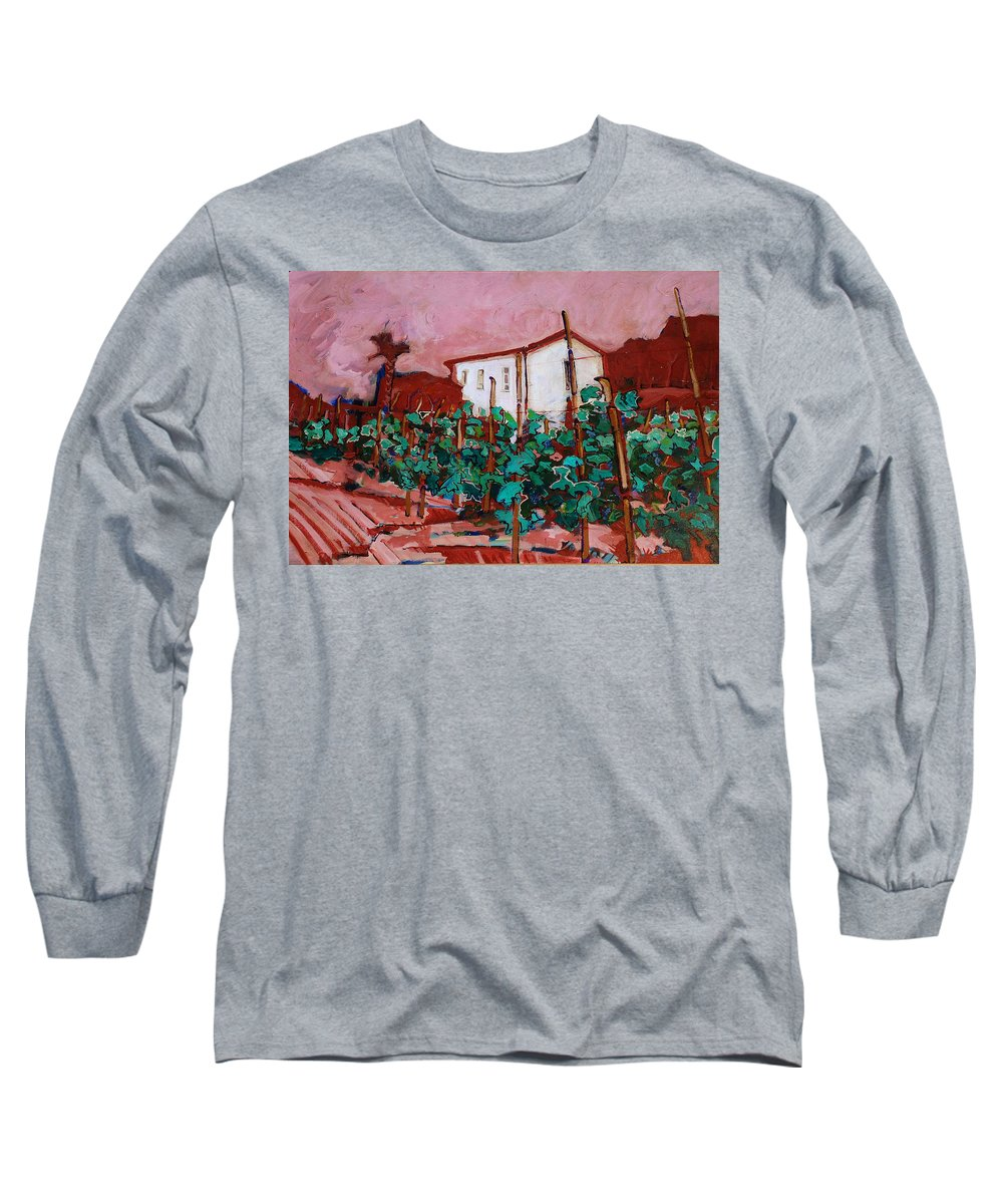 Tuscany Long Sleeve T-Shirt featuring the painting Vecchio Casa Di Pietro by Kurt Hausmann