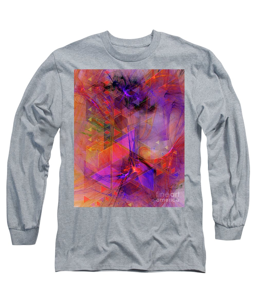 Vibrant Echoes Long Sleeve T-Shirt featuring the digital art Vibrant Echoes by John Beck