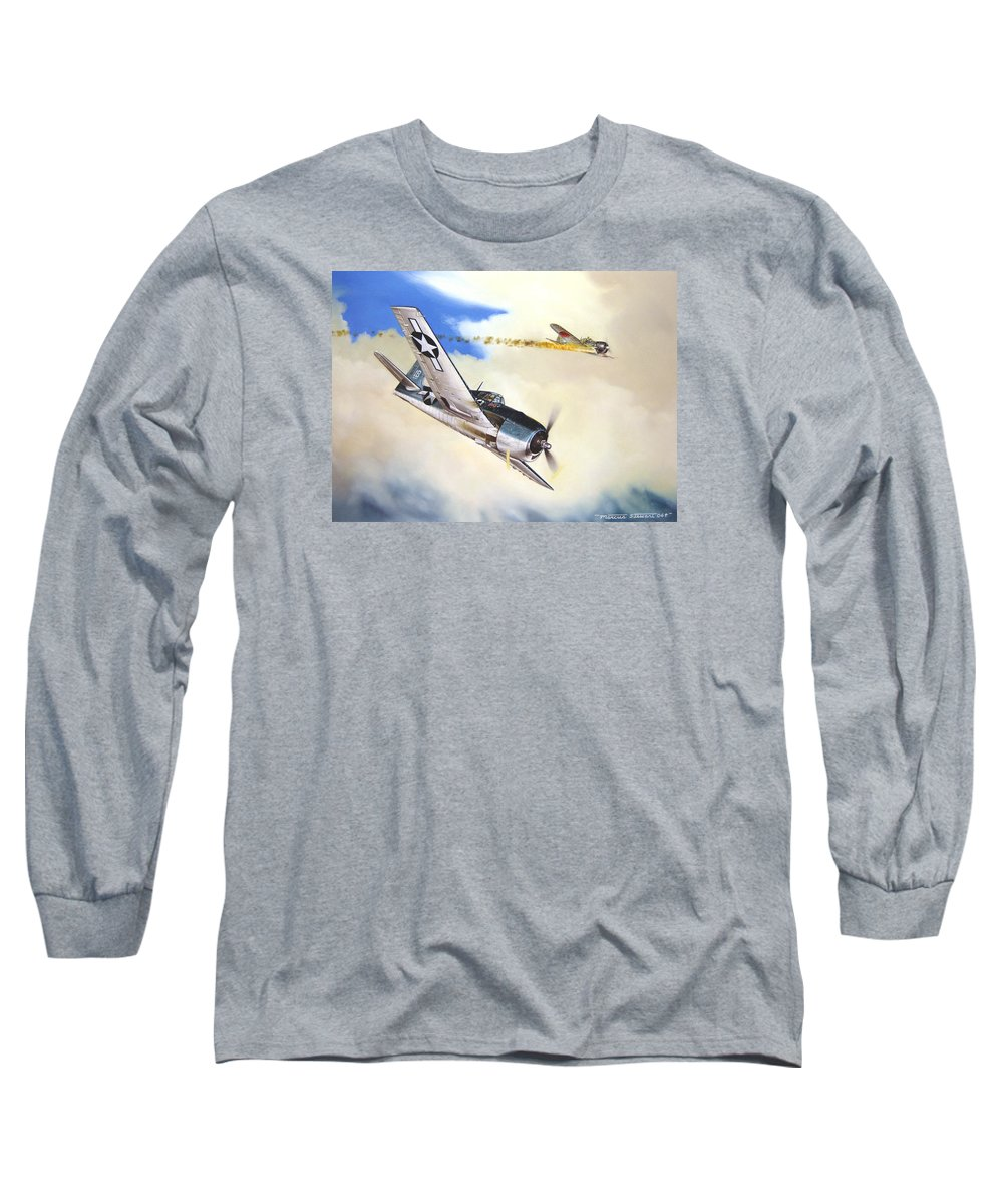 Military Long Sleeve T-Shirt featuring the painting Victory For Vraciu by Marc Stewart