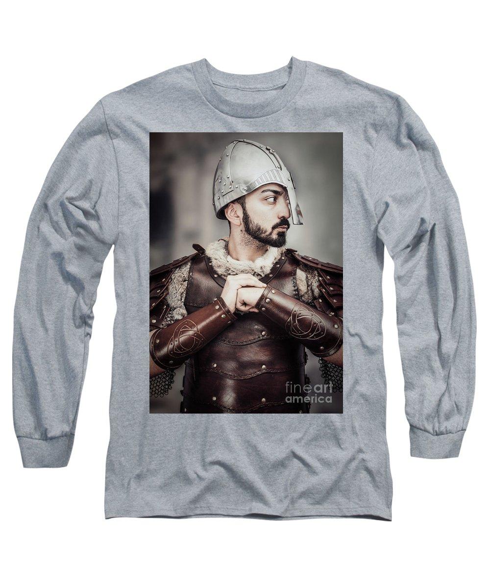 Got Long Sleeve T-Shirt featuring the photograph Viking Warrior by Amanda Elwell