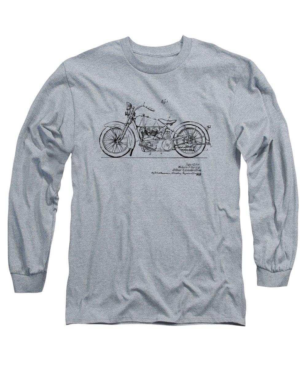 25b4d8a6 Harley-davidson Long Sleeve T-Shirt featuring the digital art Vintage Harley -davidson