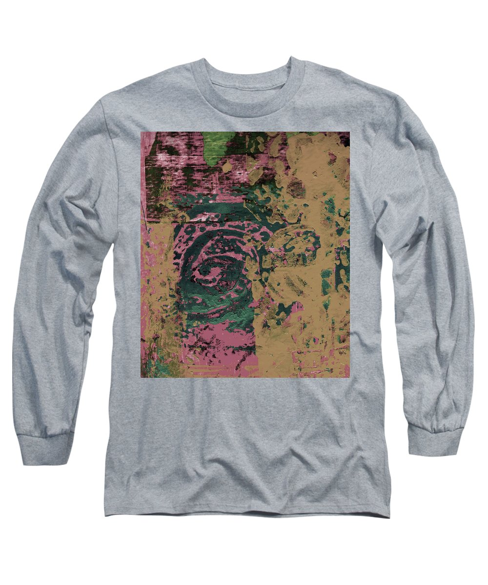 Abstract Long Sleeve T-Shirt featuring the painting Watching by Wayne Potrafka