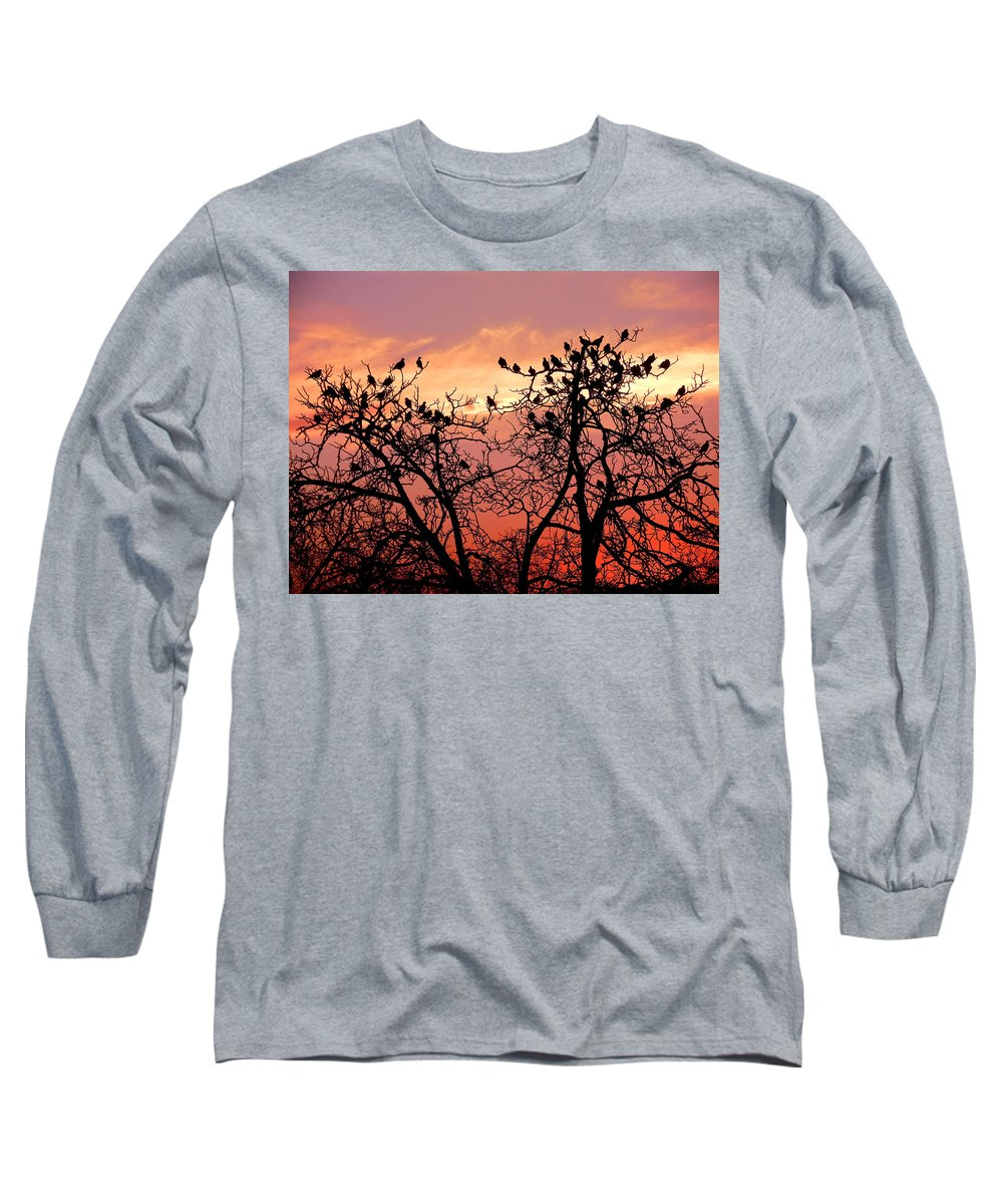 Landscape Long Sleeve T-Shirt featuring the photograph Wente Road Sunset by Karen W Meyer