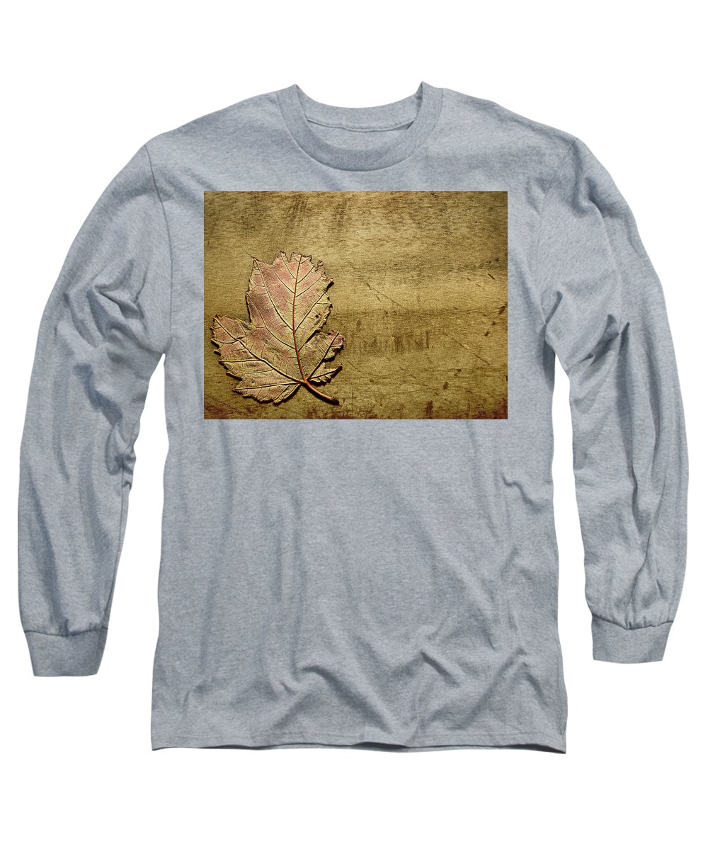 Autumn Long Sleeve T-Shirt featuring the photograph ...while You Fall Apart by Dana DiPasquale