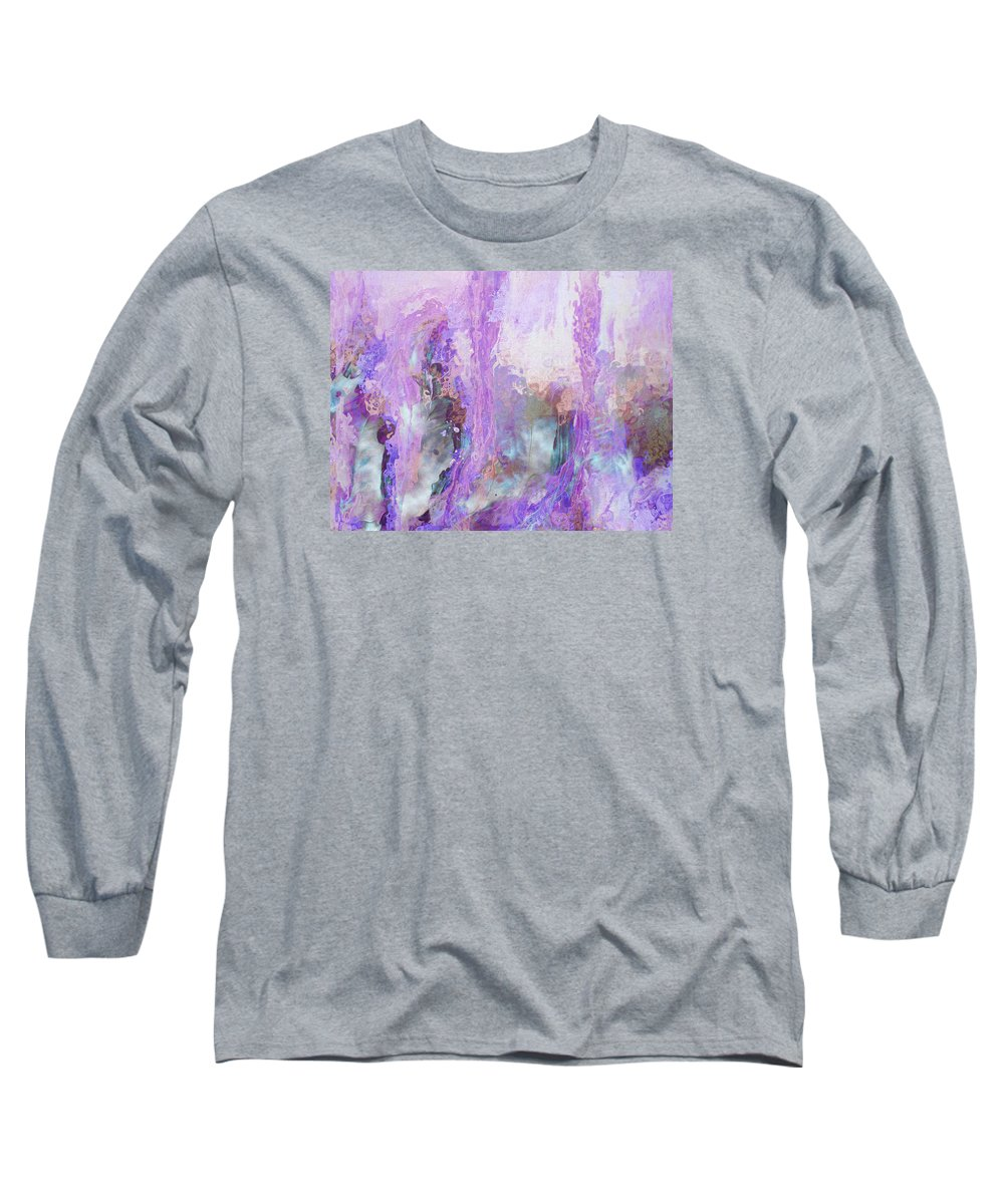 Abstract Art Long Sleeve T-Shirt featuring the digital art Whisper Softly by Linda Murphy
