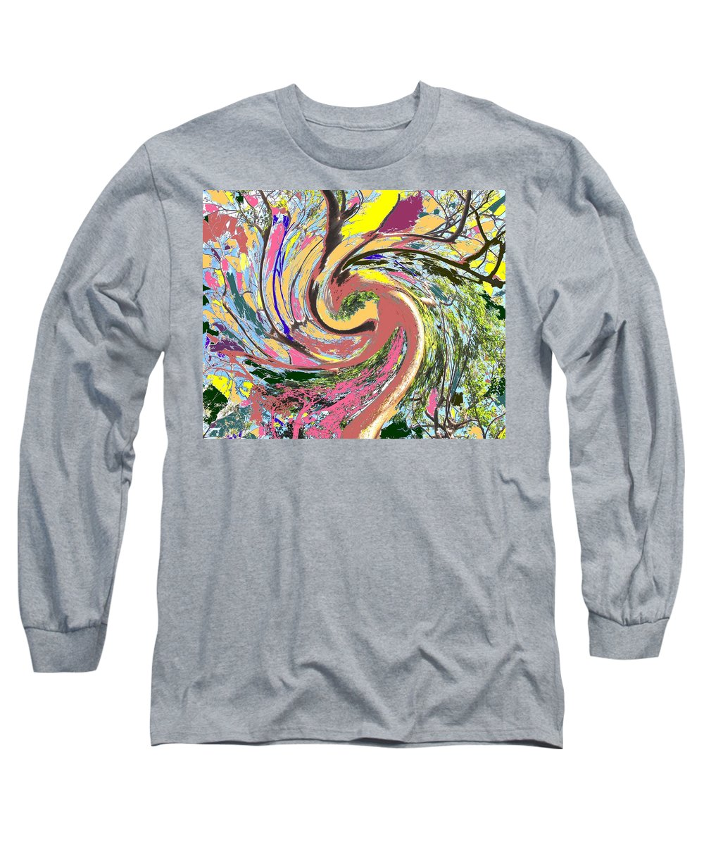 Blue Long Sleeve T-Shirt featuring the photograph Wild Tree by Ian MacDonald