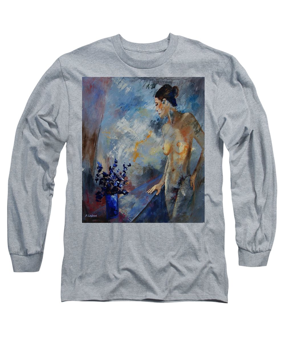 Girl Long Sleeve T-Shirt featuring the painting Will He Be Coming by Pol Ledent