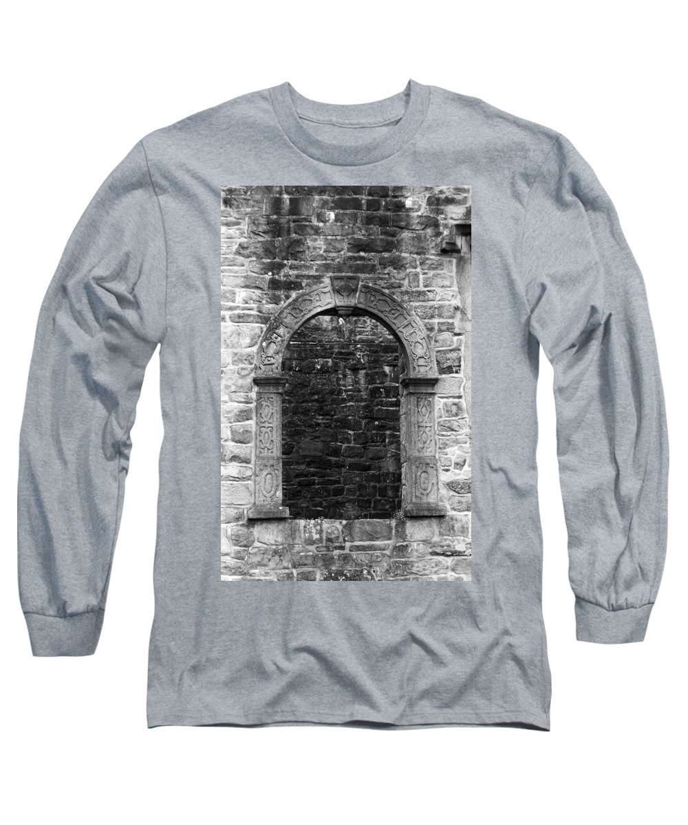 Irish Long Sleeve T-Shirt featuring the photograph Window At Donegal Castle Ireland by Teresa Mucha