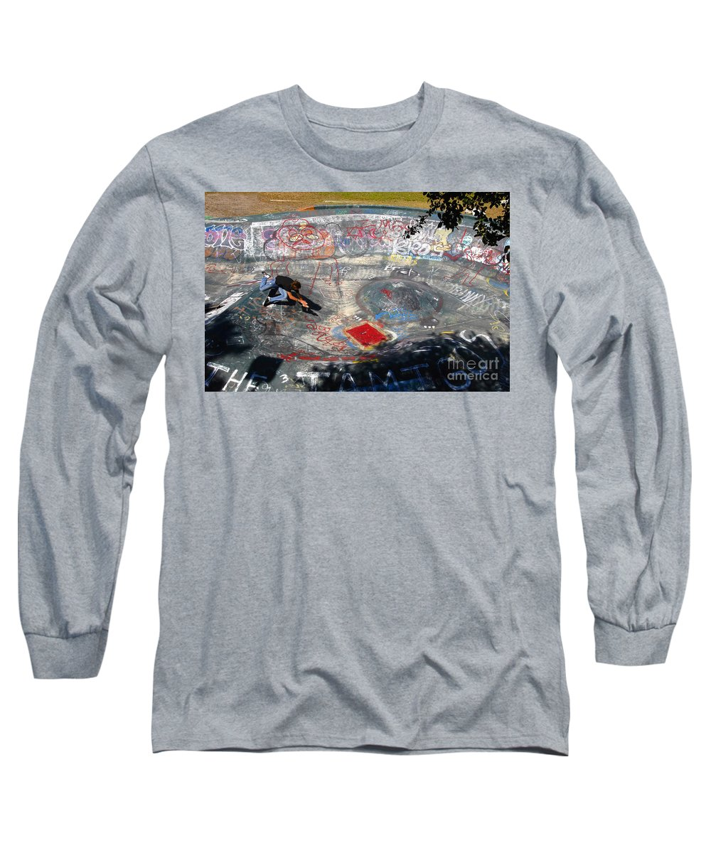Falling Long Sleeve T-Shirt featuring the photograph Wipe-out by David Lee Thompson