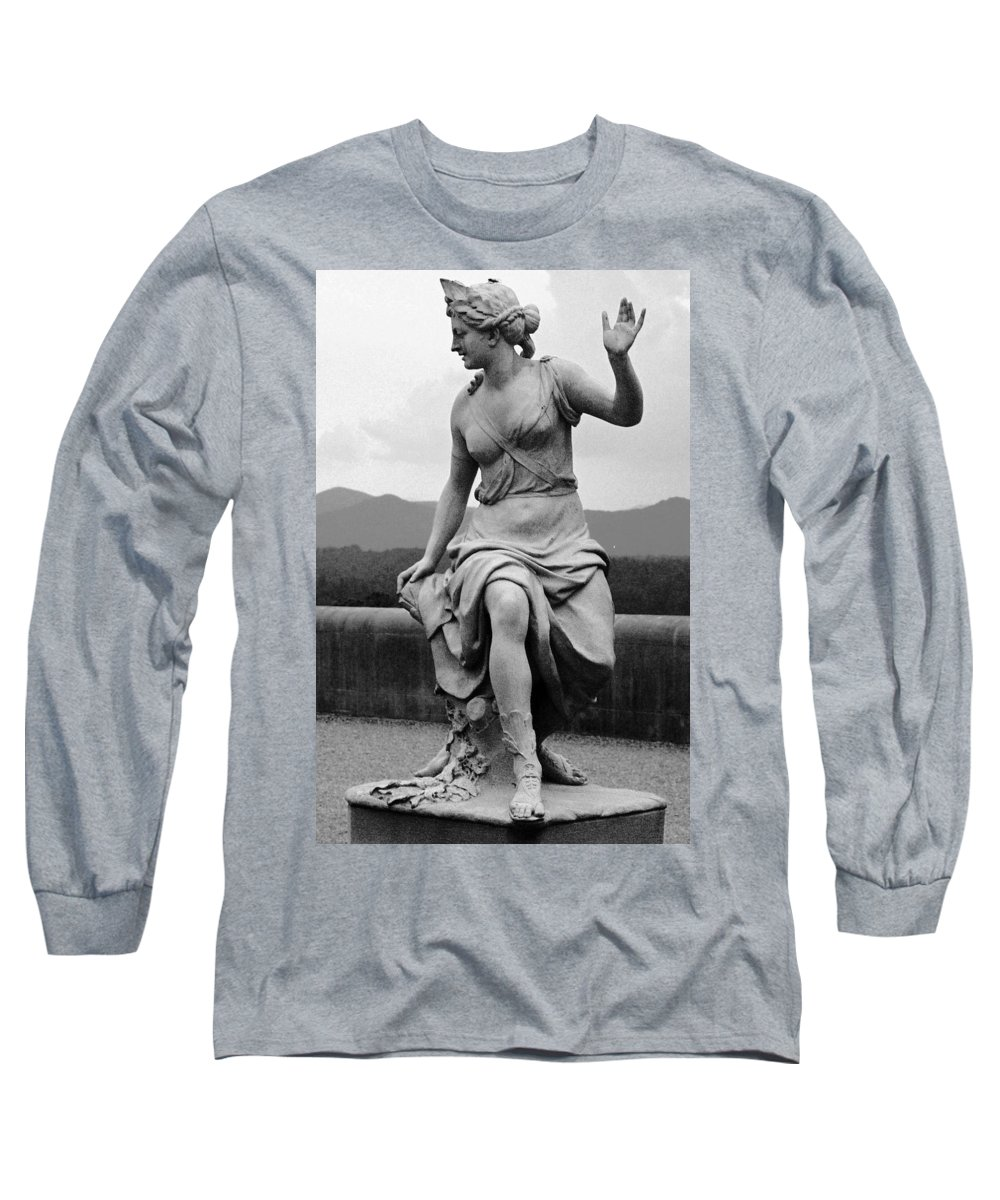 Figurative Long Sleeve T-Shirt featuring the photograph Woman Sculpture Nc by Eric Schiabor