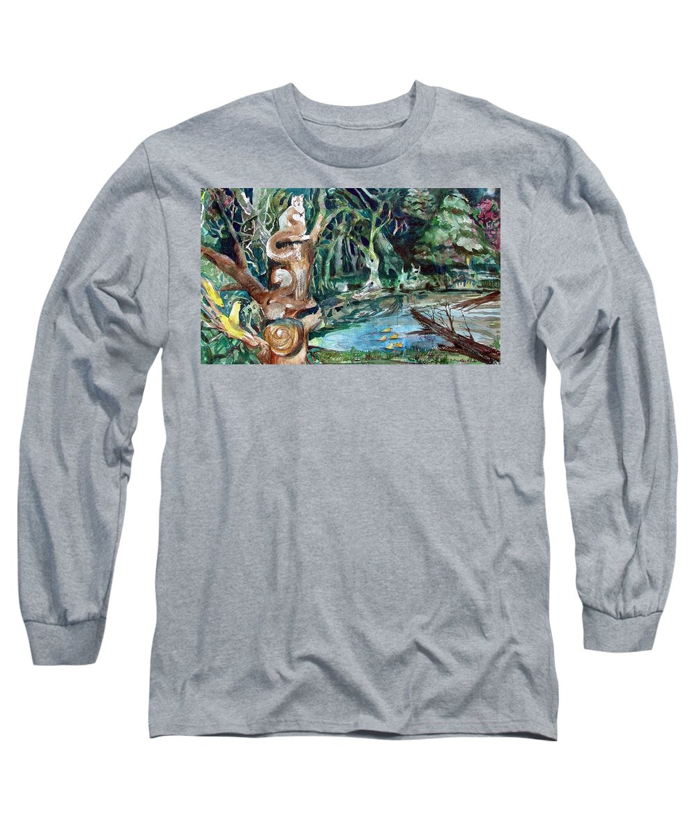 Squirrels Long Sleeve T-Shirt featuring the painting Woodland Critters by Mindy Newman
