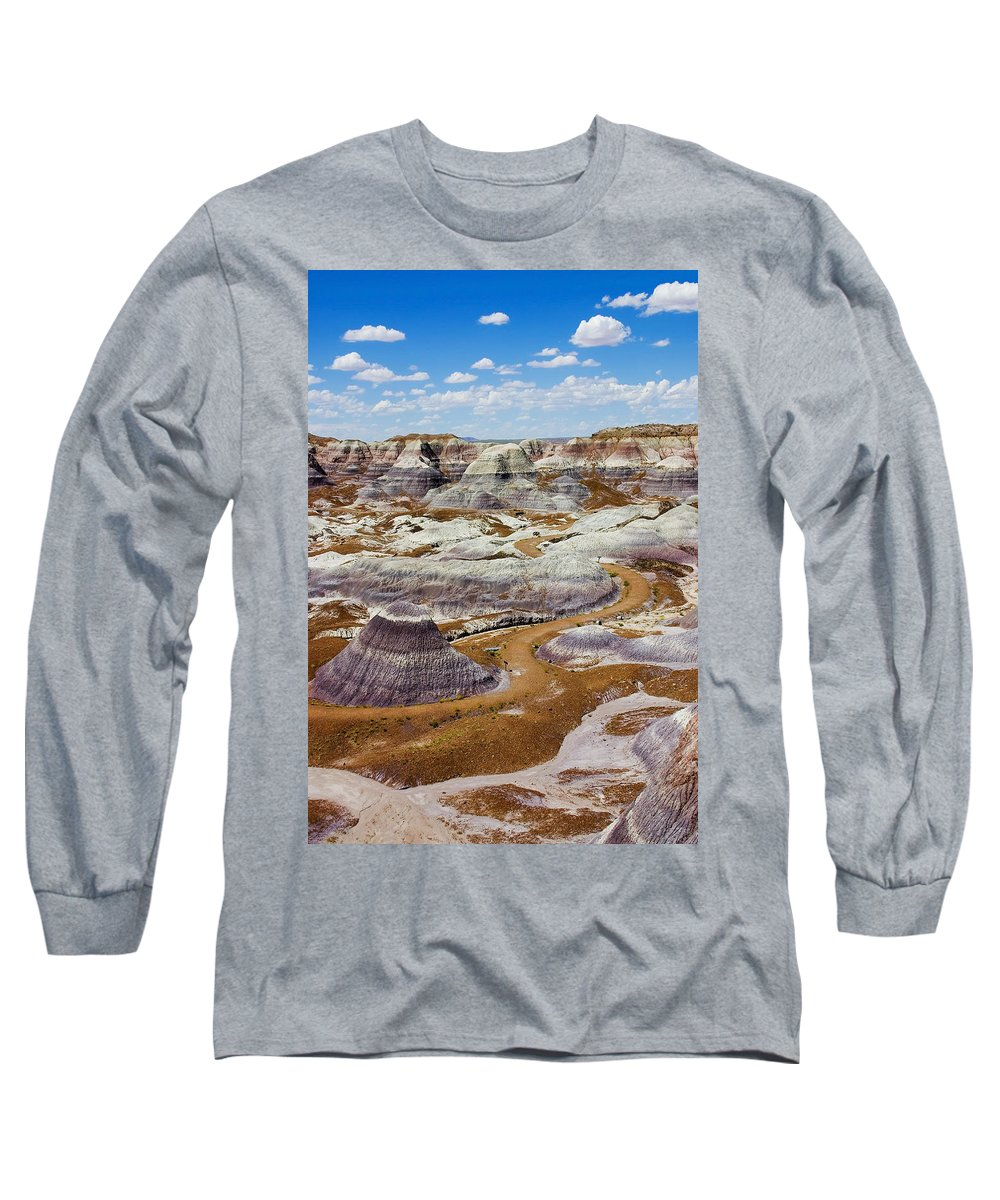 Painted Desert Long Sleeve T-Shirt featuring the photograph Yea Though I Walk by Skip Hunt