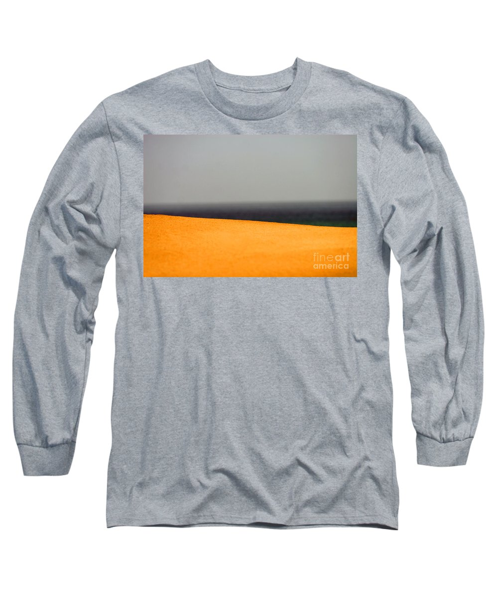 Yellow Long Sleeve T-Shirt featuring the photograph Yellow Horizon by Hana Shalom