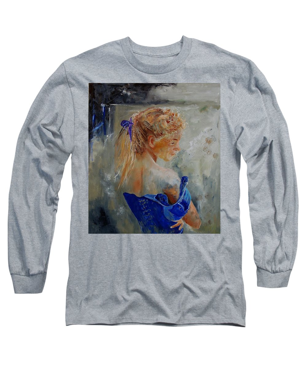 Gir Long Sleeve T-Shirt featuring the painting Young Girl 78 by Pol Ledent