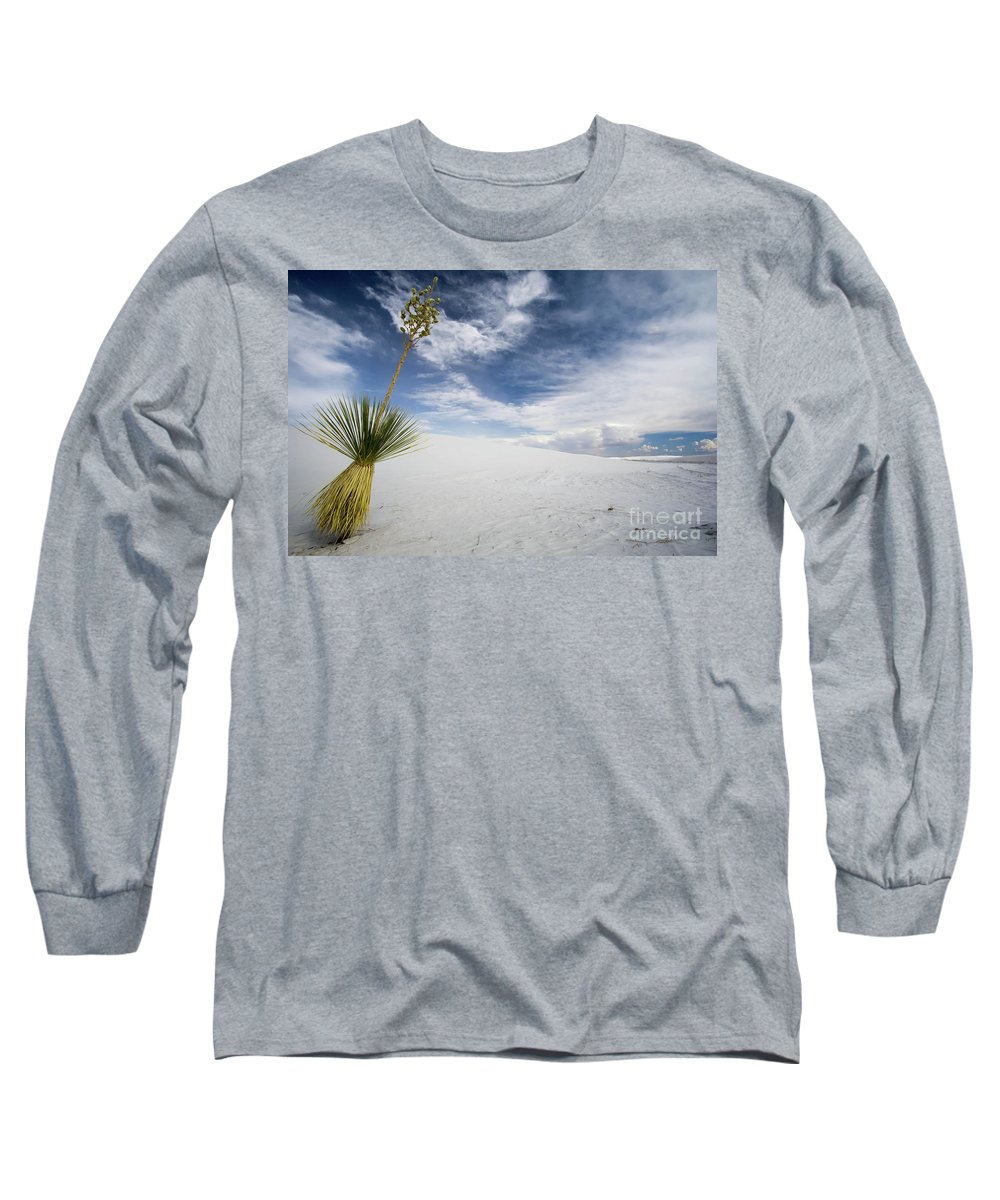 White Sands National Monument Long Sleeve T-Shirt featuring the photograph Yucca by DiFigiano Photography