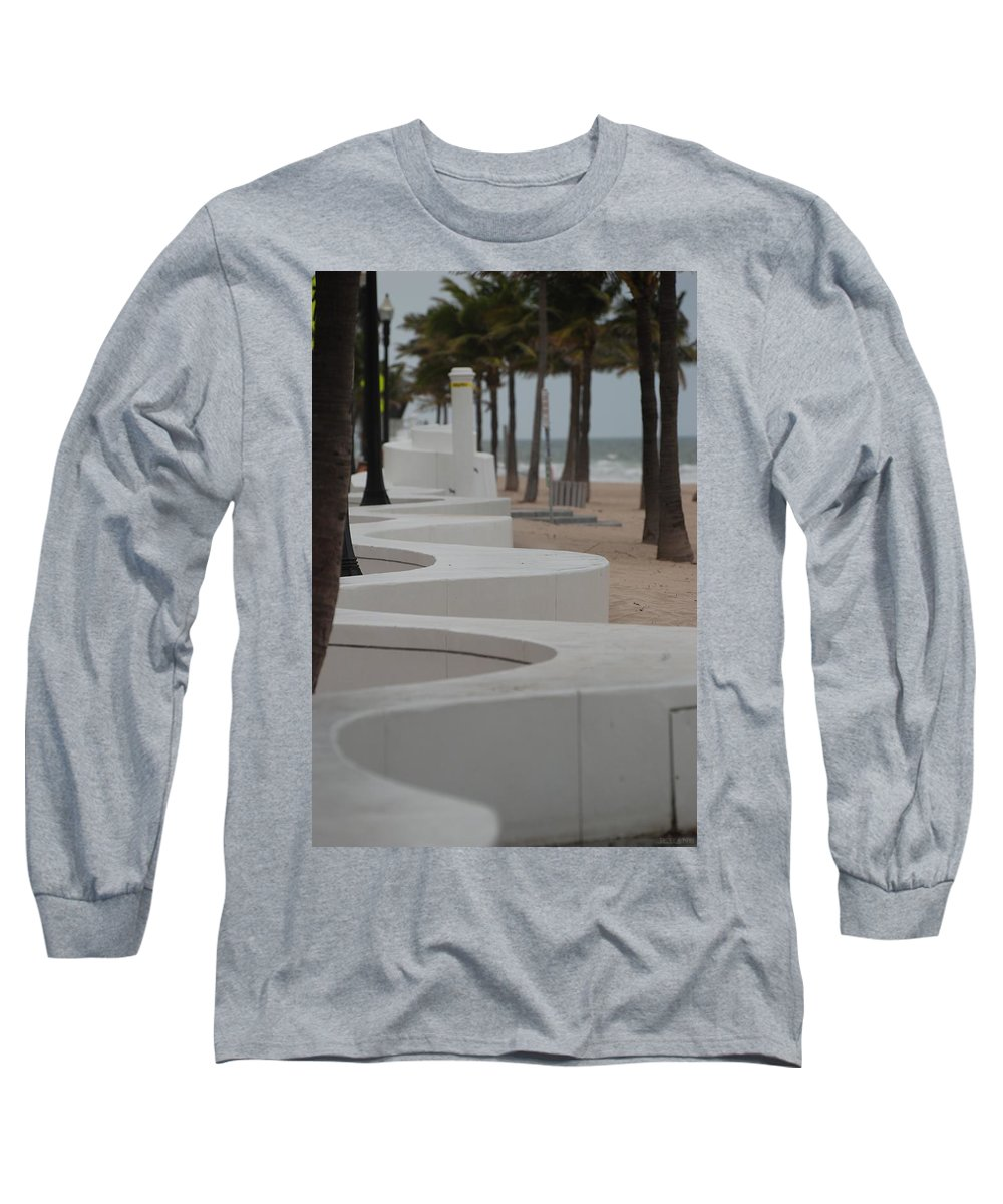 Pop Art Long Sleeve T-Shirt featuring the photograph Zig Zag At The Beach by Rob Hans